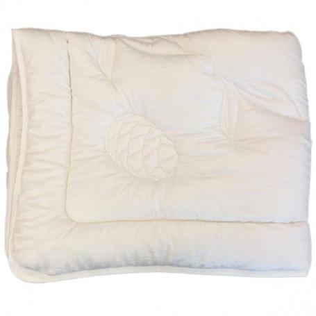 Decke Schafschurwolle+ Arve/Zirbe, warm, mittelschwer, (160x210 cm)