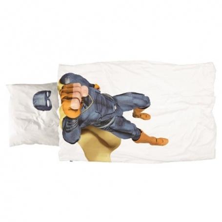 """Bettwäsche Garnitur (Decken- u. Kissenanzug) """"Superhero Boy"""" (160x210 / 65x100 cm)"""