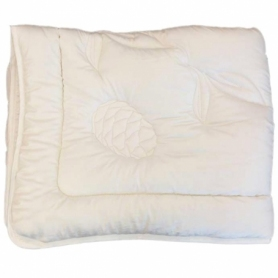 Decke/Duvet Schafschurwolle+ Arve/Zirbe, sehr warm, schwer, (160x210 cm)