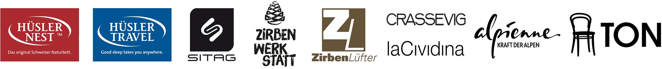 Authentigg GmbH Ruswil - Sortiment Markenlogos